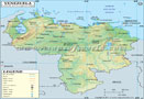Venezuela Lat long Map