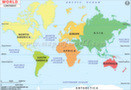 Continents maps for kids