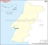 Portuguese Time Zone Map