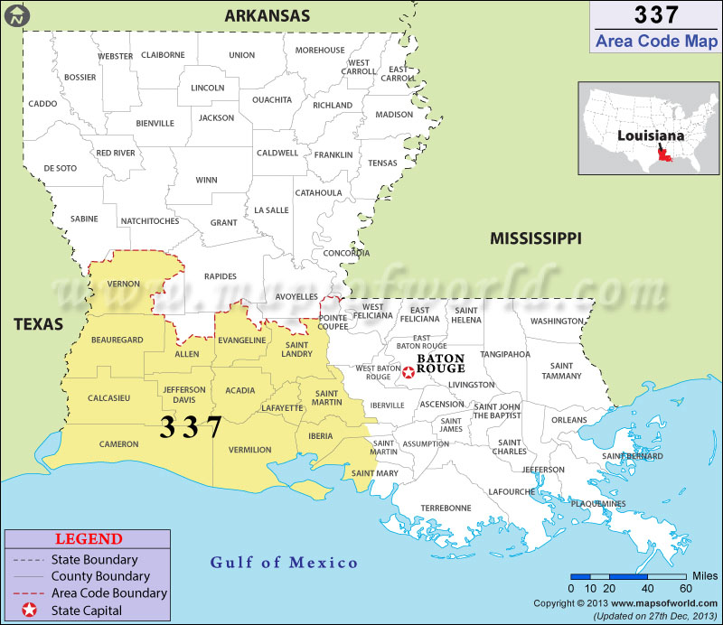 337 Area Codes Map