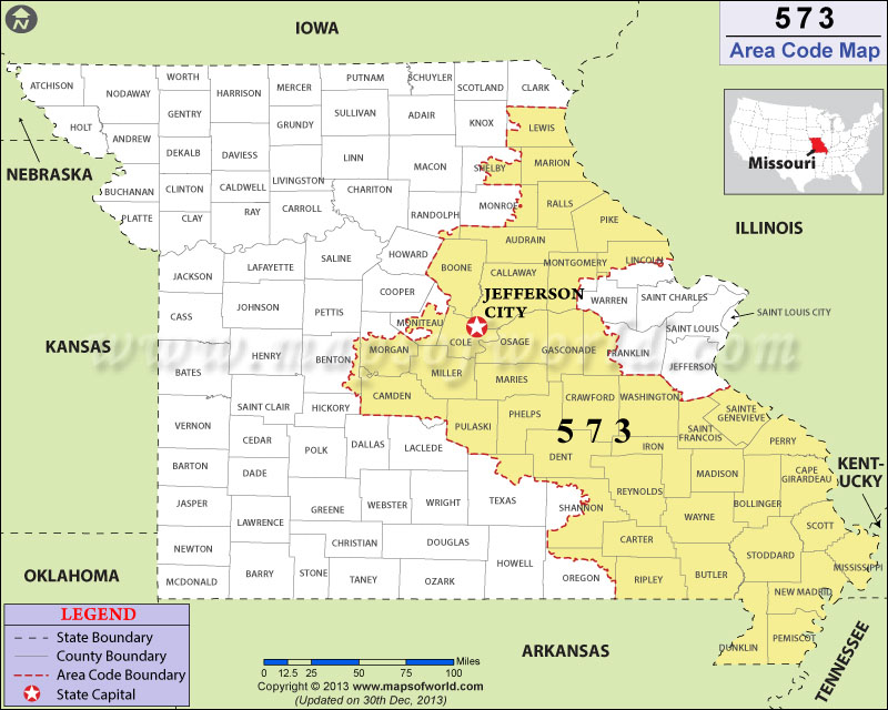 573 Area Code Map Where Is 573 Area Code In Missouri