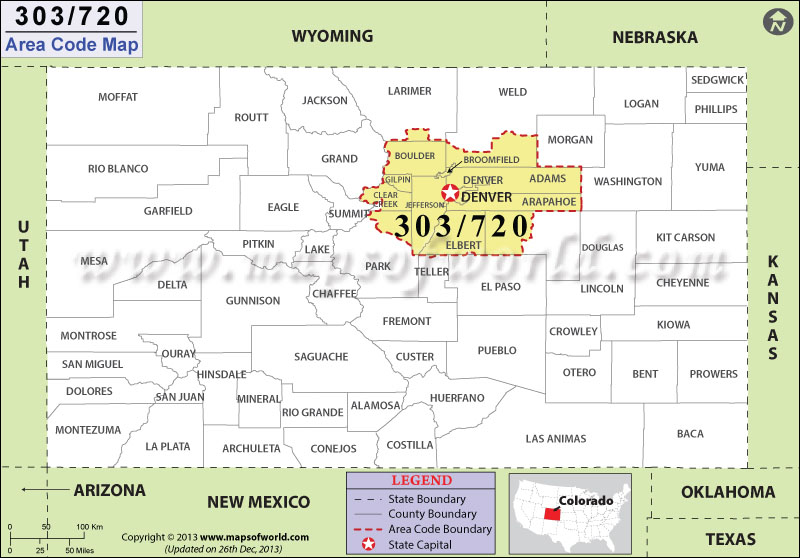 Worksheet. 720 Area Code Map Where is 720 Area Code in Colorado