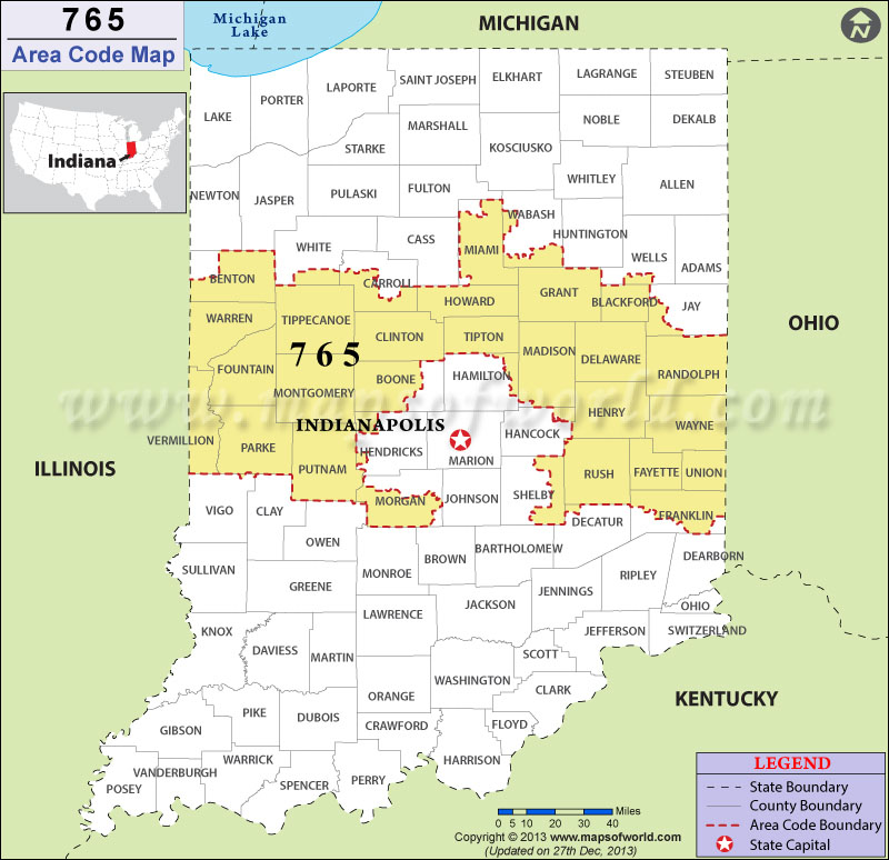 Ohio Area Code Map 765 9 | dienlanhvinhphuc.net