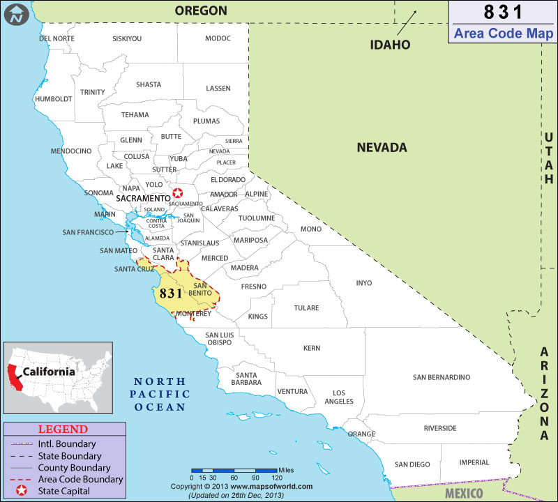 Stanford Zip Code Map.831 Area Code Map Where Is 831 Area Code In California