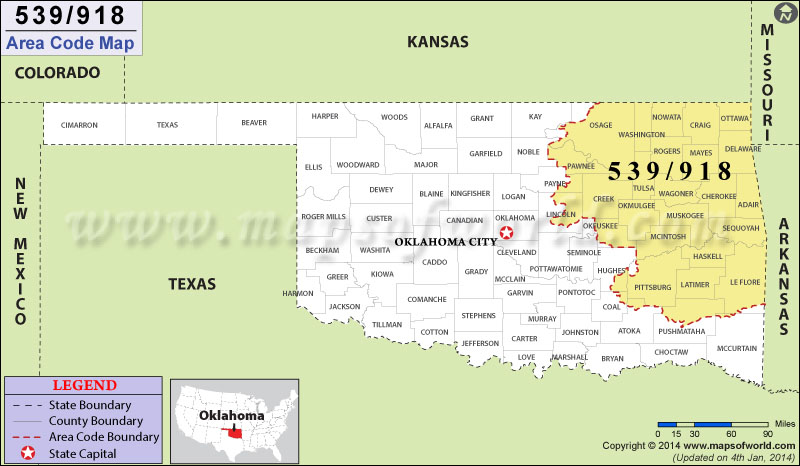 918 area code map where is 918 area code in oklahoma