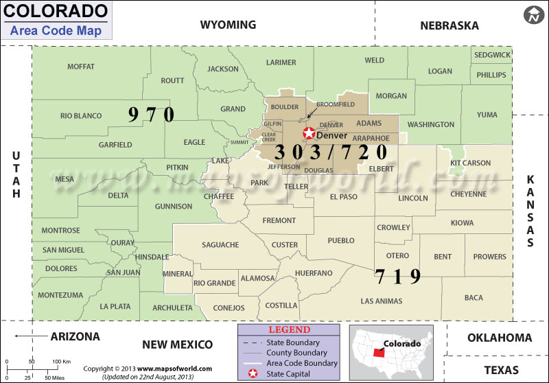 Colorado Area Codes
