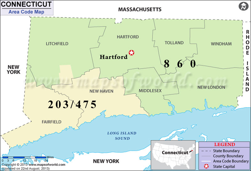 Connecticut Area Codes