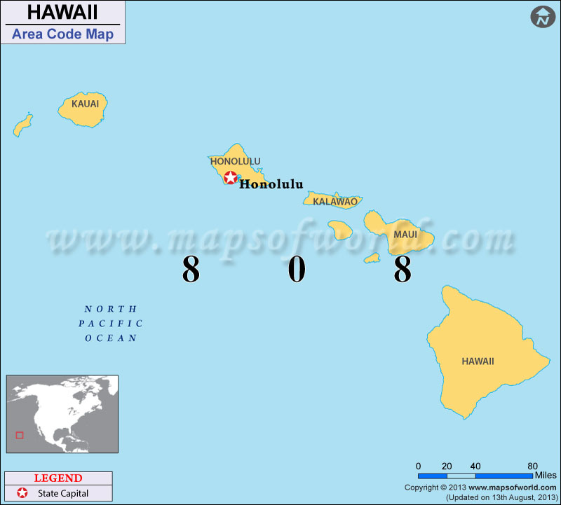 Hawaii Area Codes