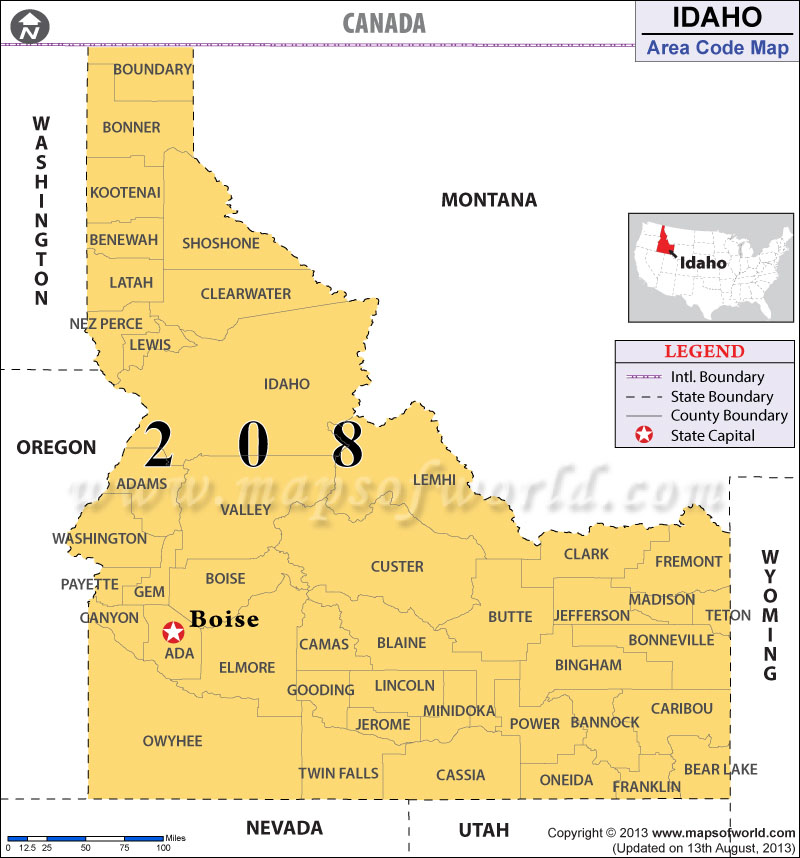 Idaho Area Codes