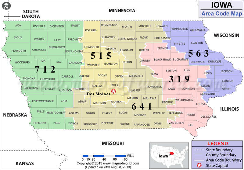 Iowa Area Codes