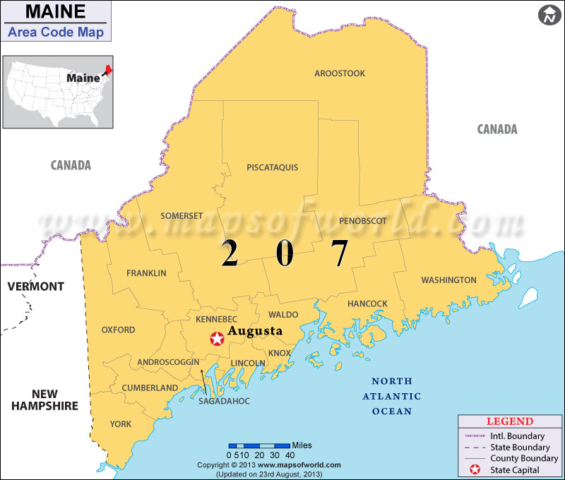 Sanford And South Portland County Area Code Maine Sanford And