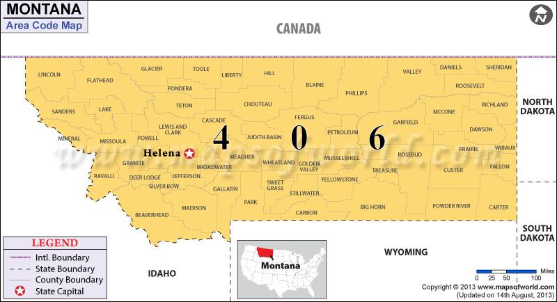 Montana Area Codes