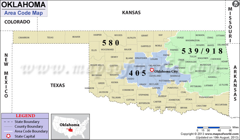 Oklahoma Area Codes