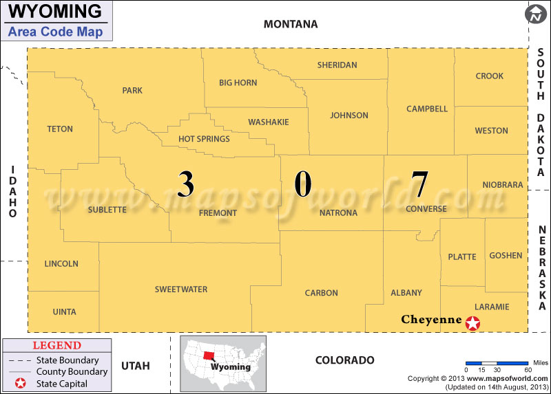 Wyoming Area Codes