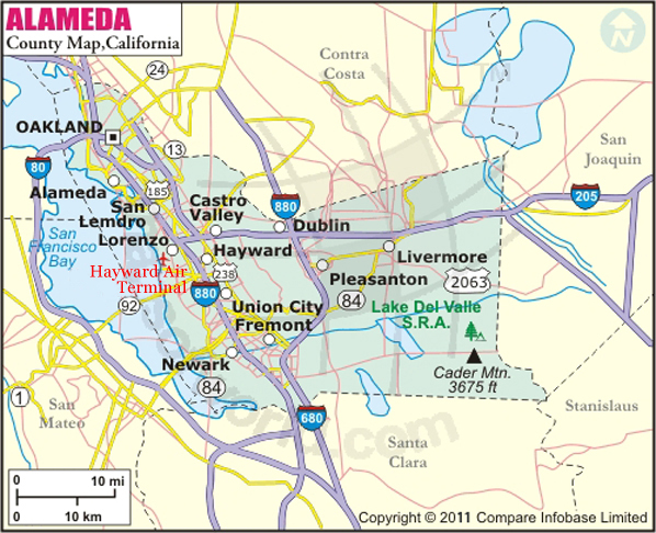 Alameda County Map Map Of Alameda County California - Map of contra costa county ca