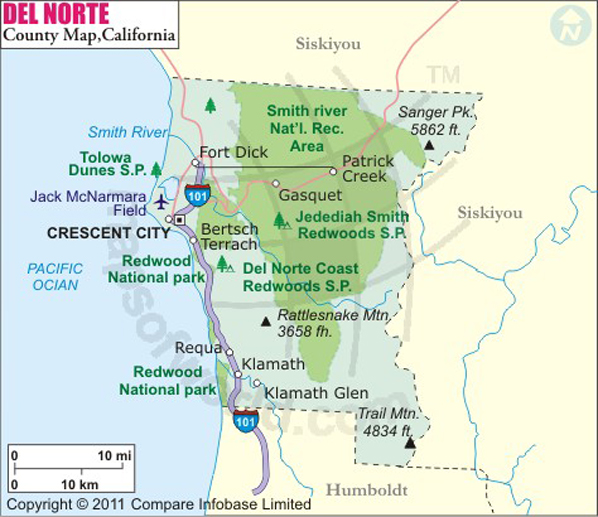 Del Norte County Map