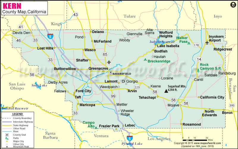 Kern County Map