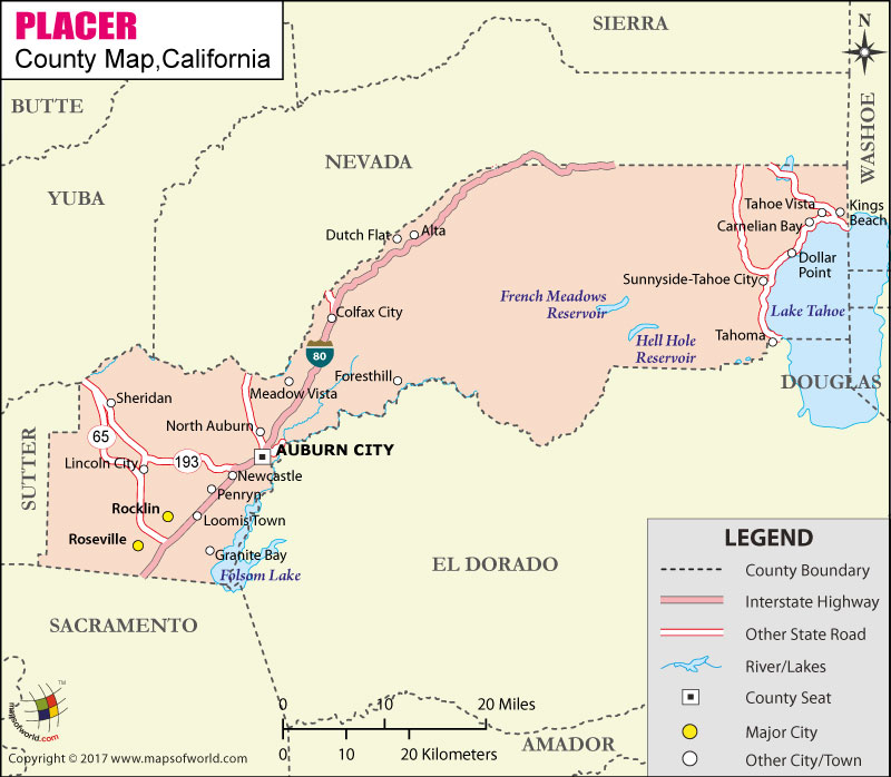 Placer County Map