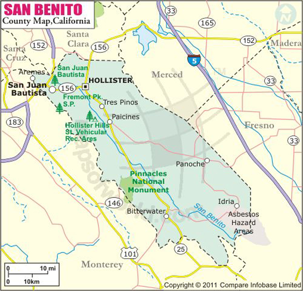 San Benito County Map