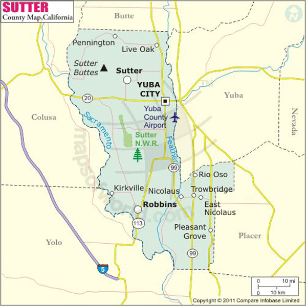 Sutter County Map