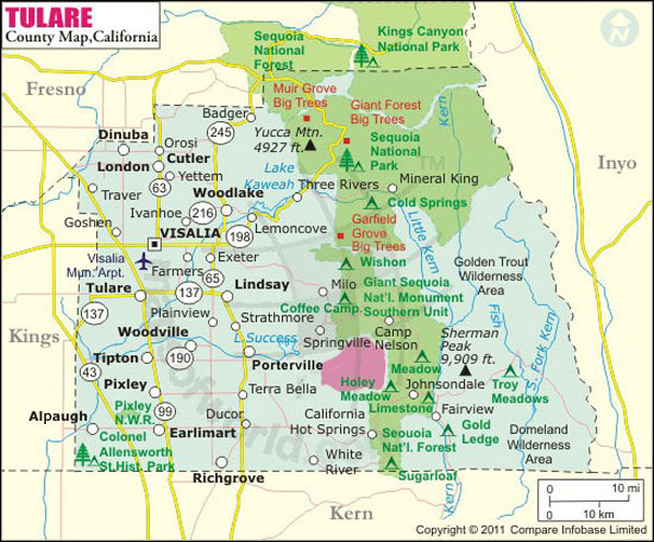 Tulare County Map