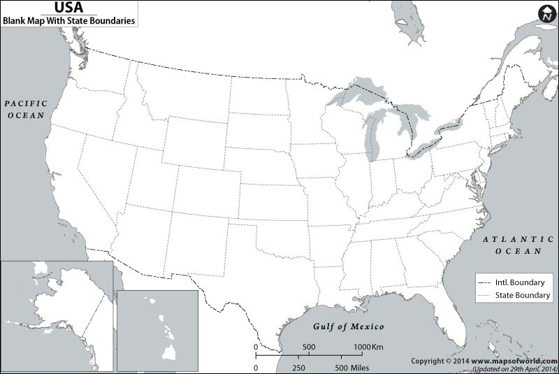 Blank Map Of USA US Blank Map USA Outline Map - Blank us political map