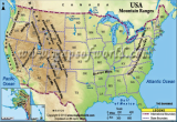 United States Mountain Ranges Map