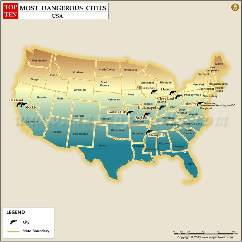 Top Ten Dangerous Cities In US - Most dangerous cities in usa