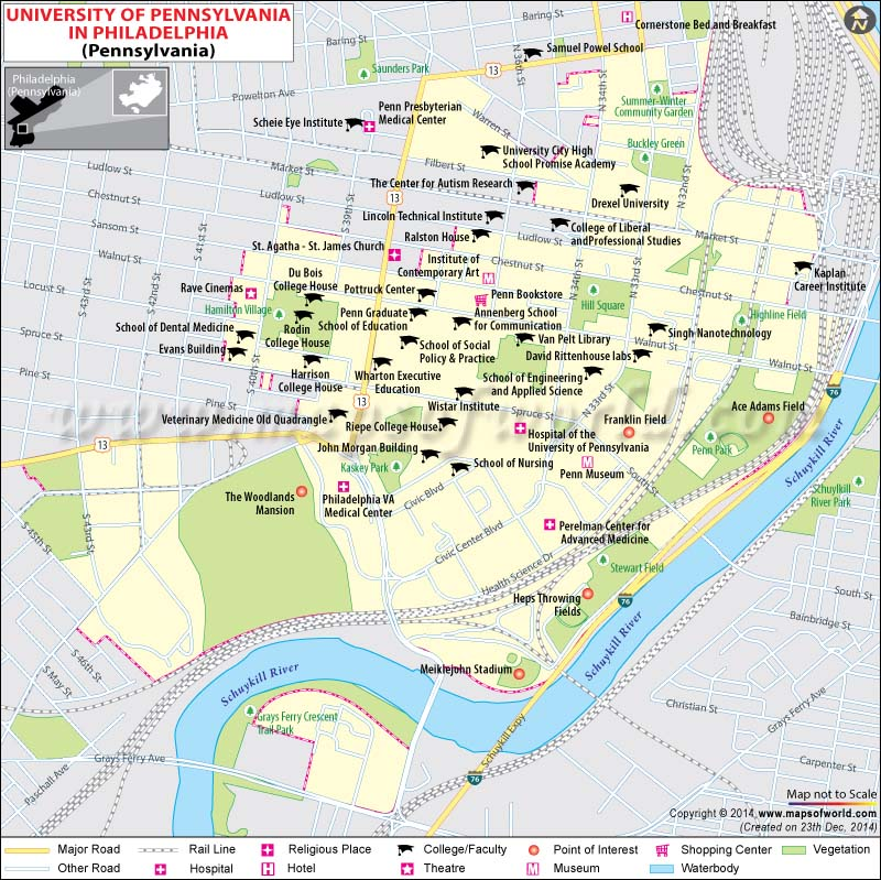 University Of Pennsylvania Location Map - Philadelphia location on us map