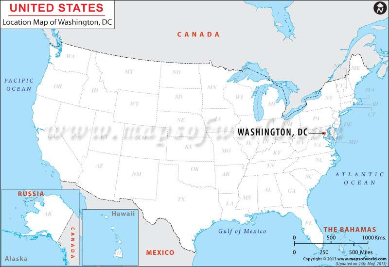 Where Is Washington DC District Of Columbia Location Of - Us map of dc