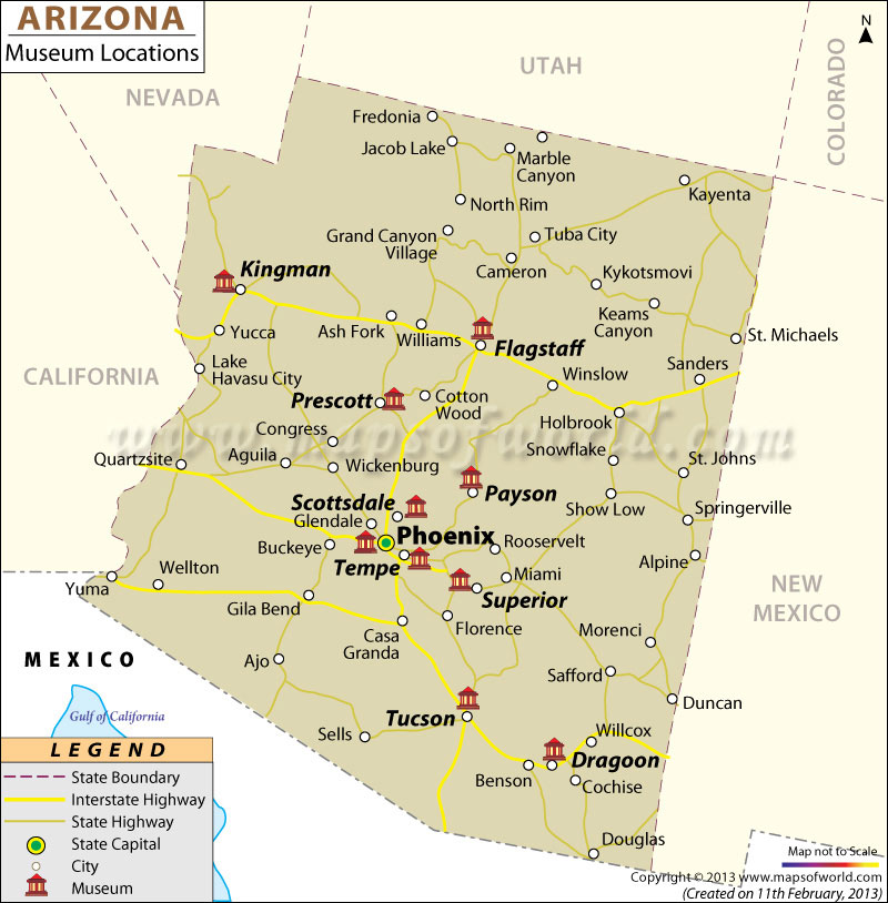 Map Of Tucson Arizona Zip Codes.List Of Museums In Arizona Arizona Museum Map