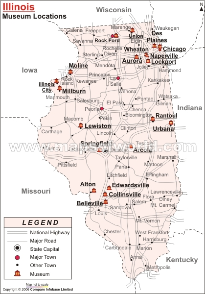 Illinois Museums Map