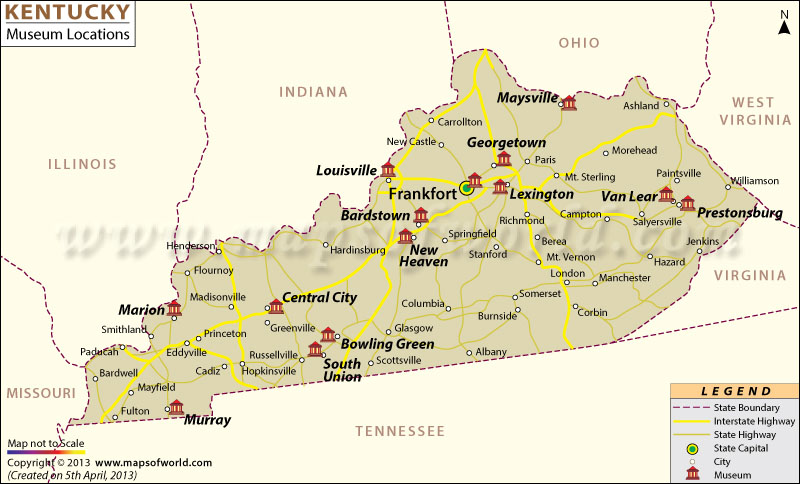 List of Museums in Kentucky Kentucky Museum Map