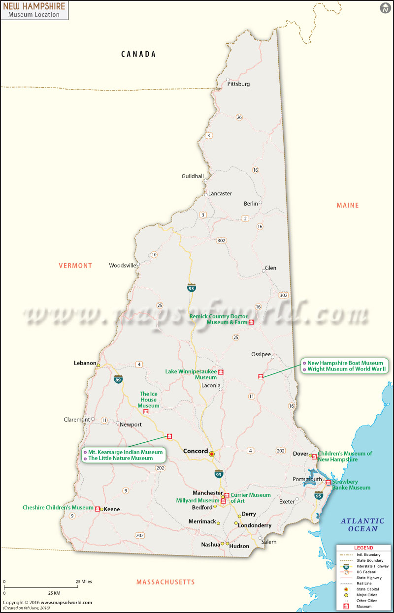New Hampshire Museums Map