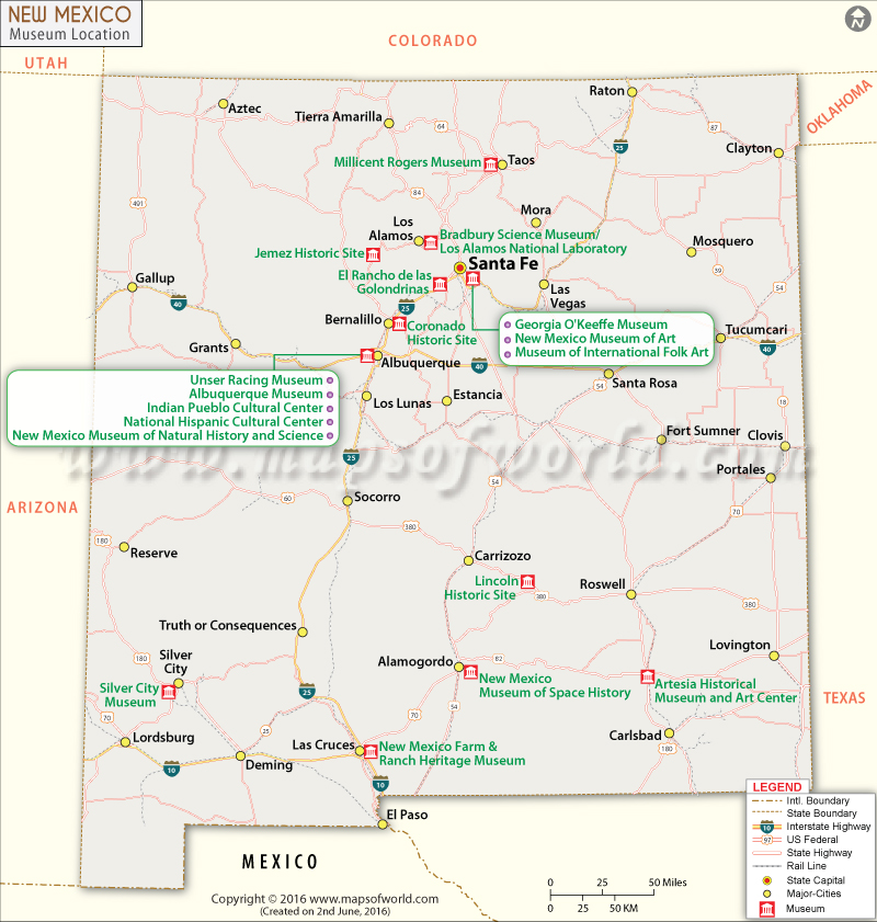 New Mexico Museums Map