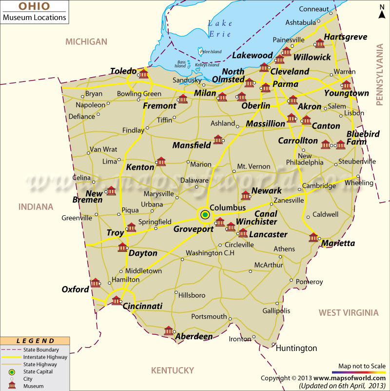 List of Museums in Ohio | Ohio Museums Map