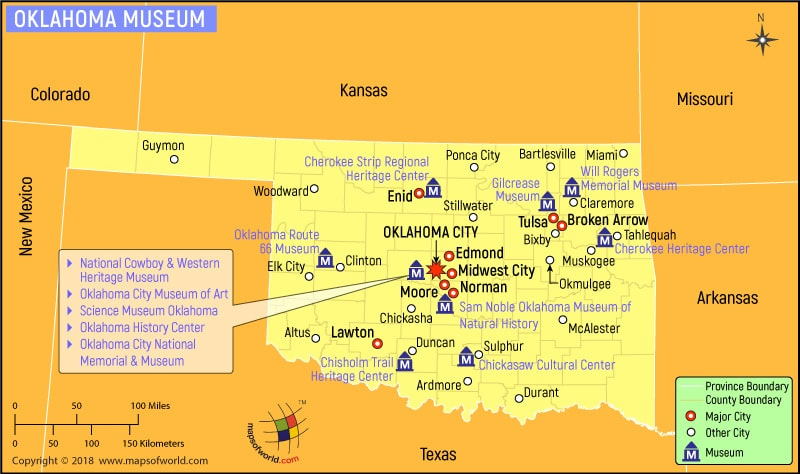 Oklahoma Museum Map