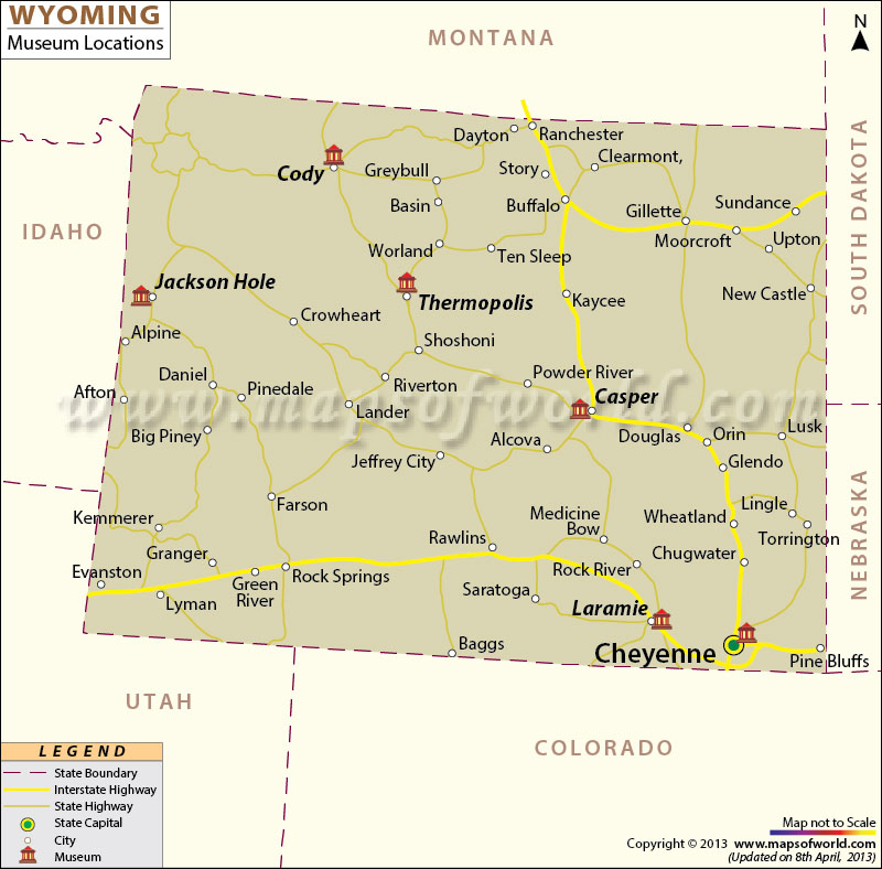 Wyoming Museums Map
