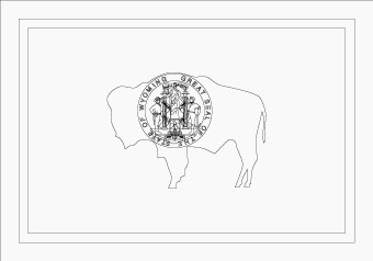Wyoming flag flag of wyoming state for Wyoming flag coloring page