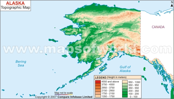 Topographic Map Alaska
