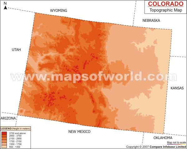 Colorado Topographic Map