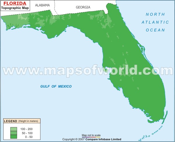 Florida Topographic Maps Topographic Map - Florida elevation map