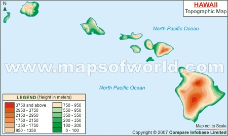 Hawaii Topographic Map