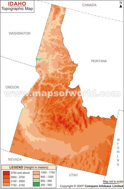 Idaho Topographic Map