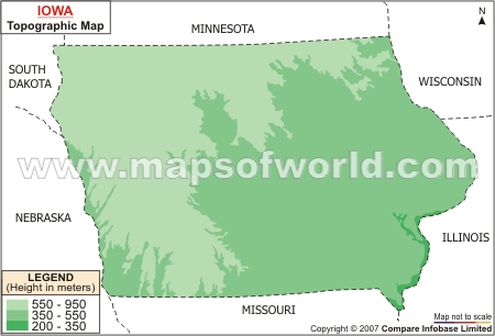 Iowa Topographic Map