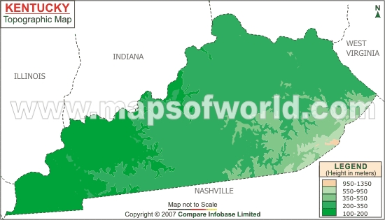 Kentucky Topographic Map