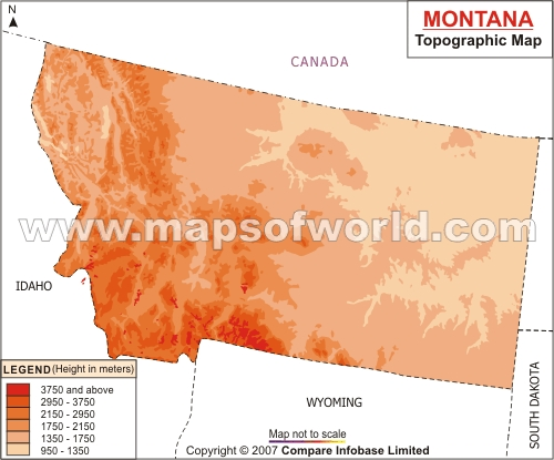 Montana Topographic Map