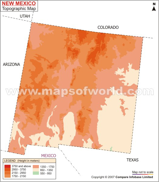 New Mexico Topographic Map