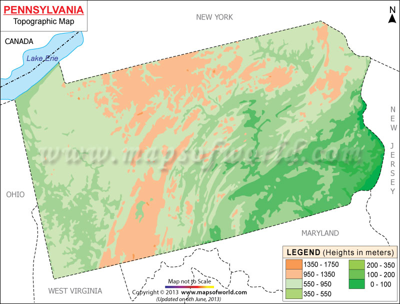 Pennsylvania Topographic Map
