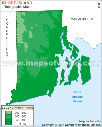 Rhode Island Topographic Map